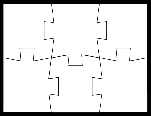 Blank Puzzle Piece Template - Free Single Puzzle Piece Images | PDF