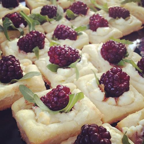 Blackberry goat cheese lemon squares