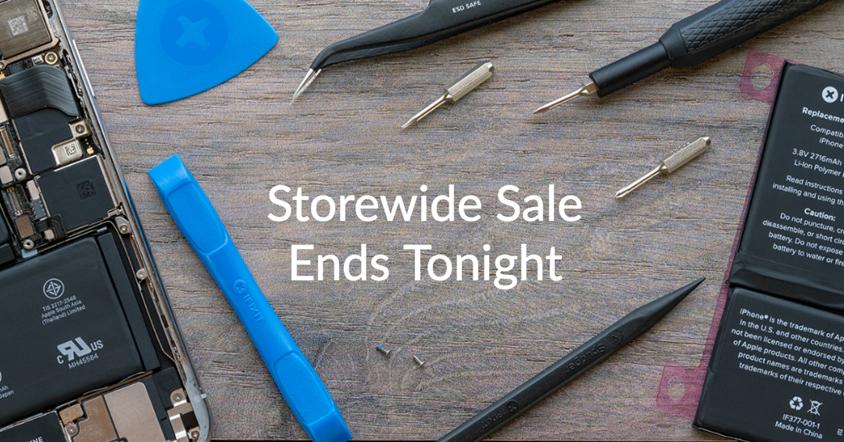 Storewide Sale Ends Tonight