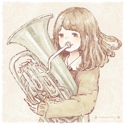 楽器イラストまとめプロフ画も イラストレーター Momochy