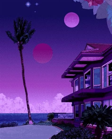 pin  ana gomez  purple vaporwave art aesthetic art