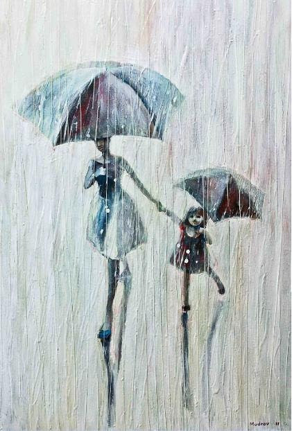Sisters.    2011   Original   Oil Painting Printed on   Canvas 20x30       87.00