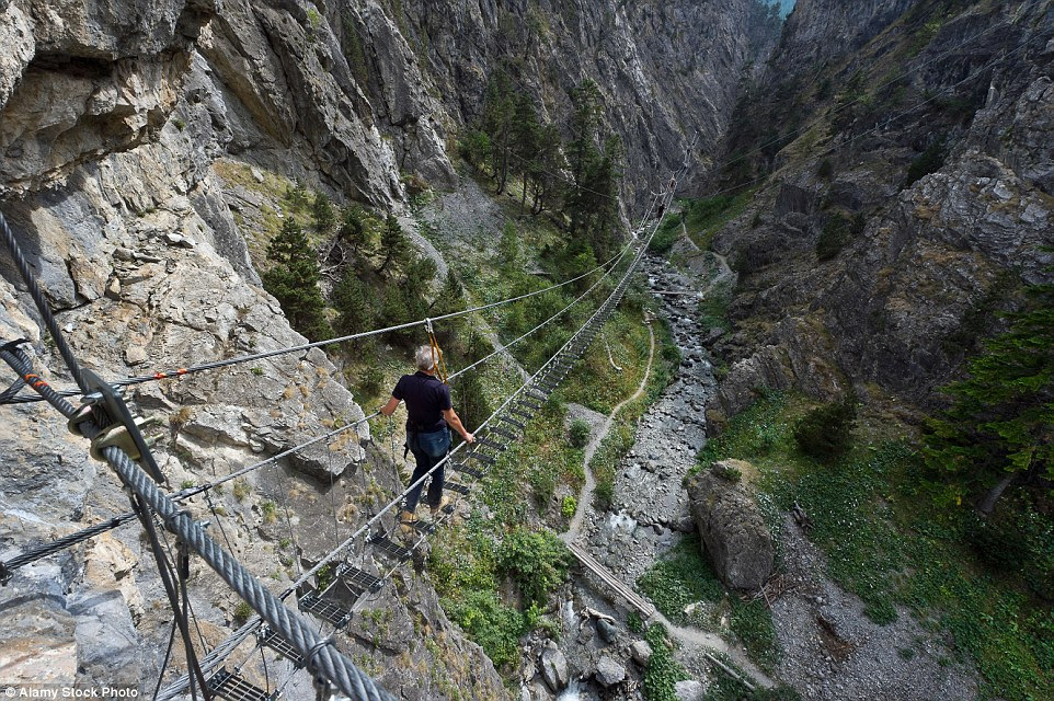 If you want to experience the rocky St. Gervasio gorges in Piedmont, Italy, one way is to go through it - via the tiny Tibetan bridge