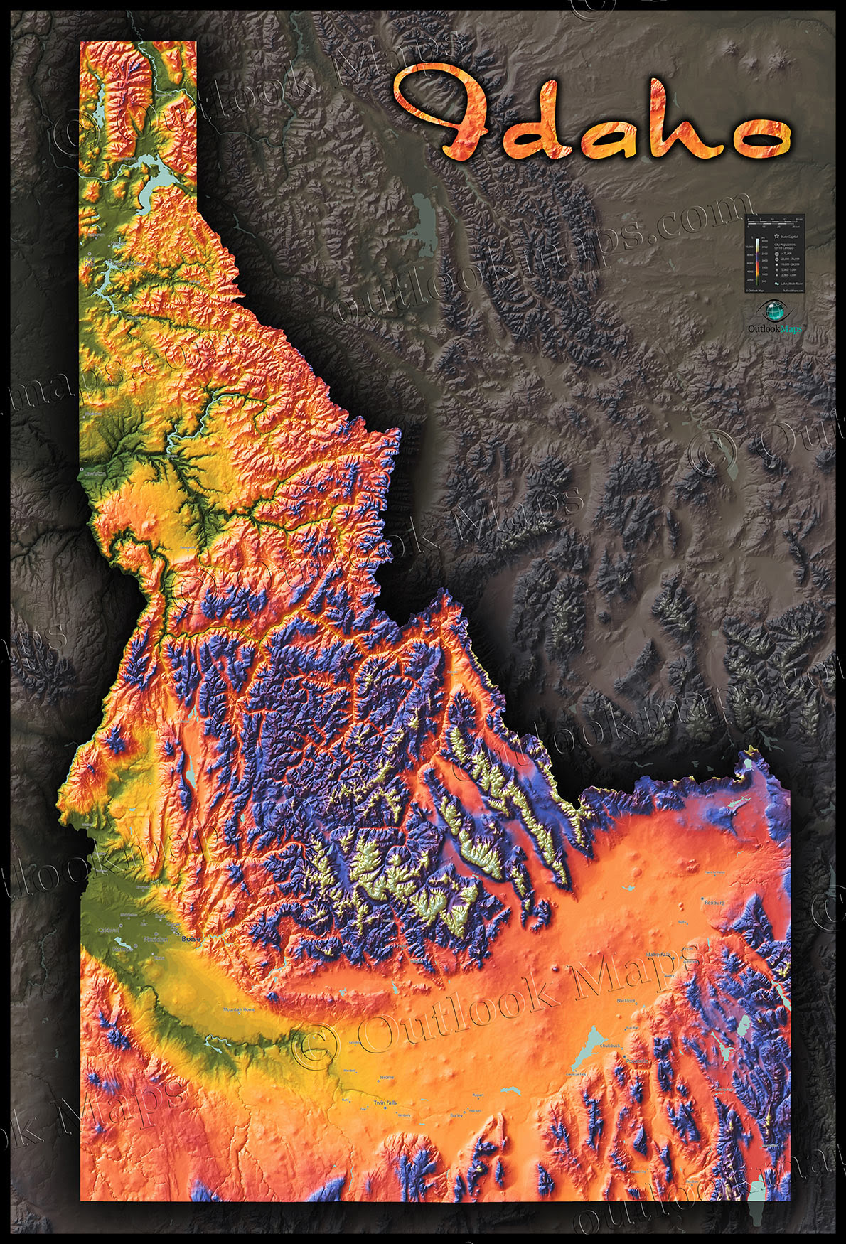 Topographic Map Idaho | Campus Map on moscow city map, moscow university map, antique moscow map,