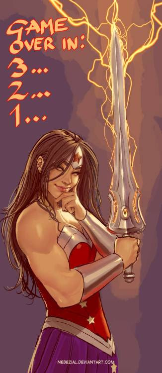 Yep, Wonder Woman with She-Ra's sword of power pretty much equals unstoppable.