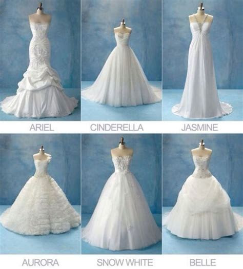 different types of wedding dresses.   Our wedding   Disney