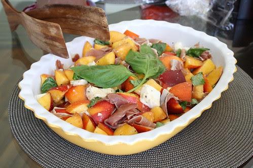 Peach, Mozzarella, and Prosciutto Salad