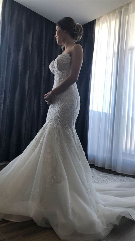 norma bridal couture size  fishtail dress  hand