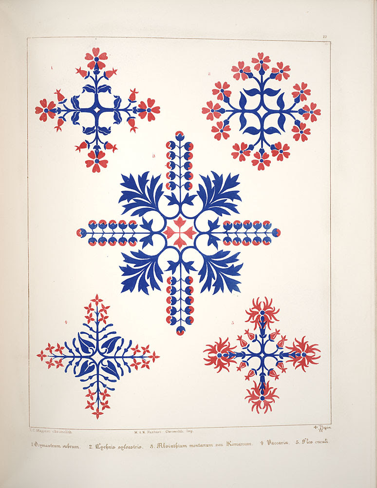 Floriated ornament - 19th cent. decorative designs