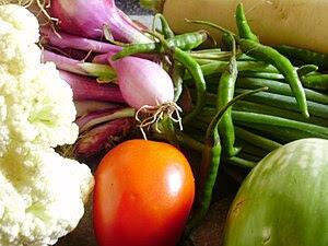 English: vegetables
