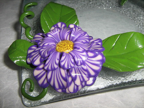 Fantasy Violet Flower by Cristina Crijoux