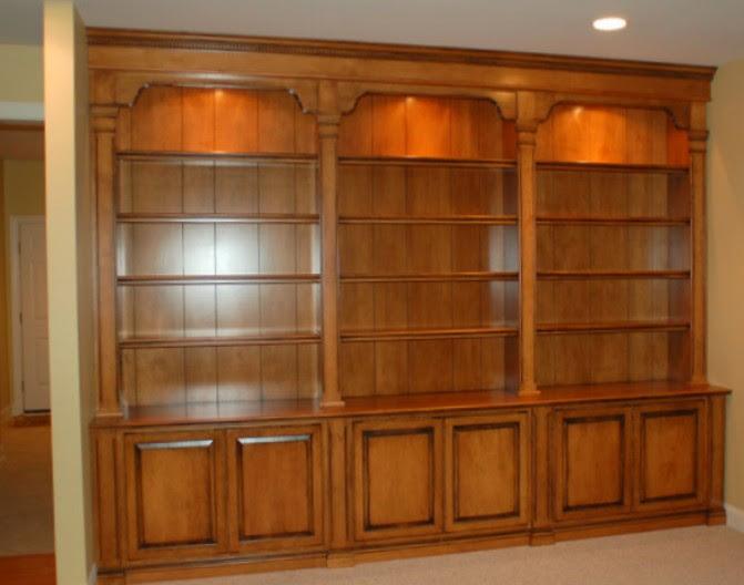 librerie su misura legno vero trento