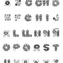 Dibujos Para Colorear Letras Papá Noel Eshellokidscom
