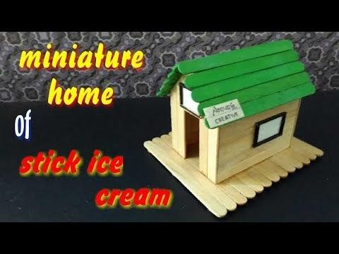 Cara Membuat Rumah Rumahan Sederhana Dari Stik Es Krim ...