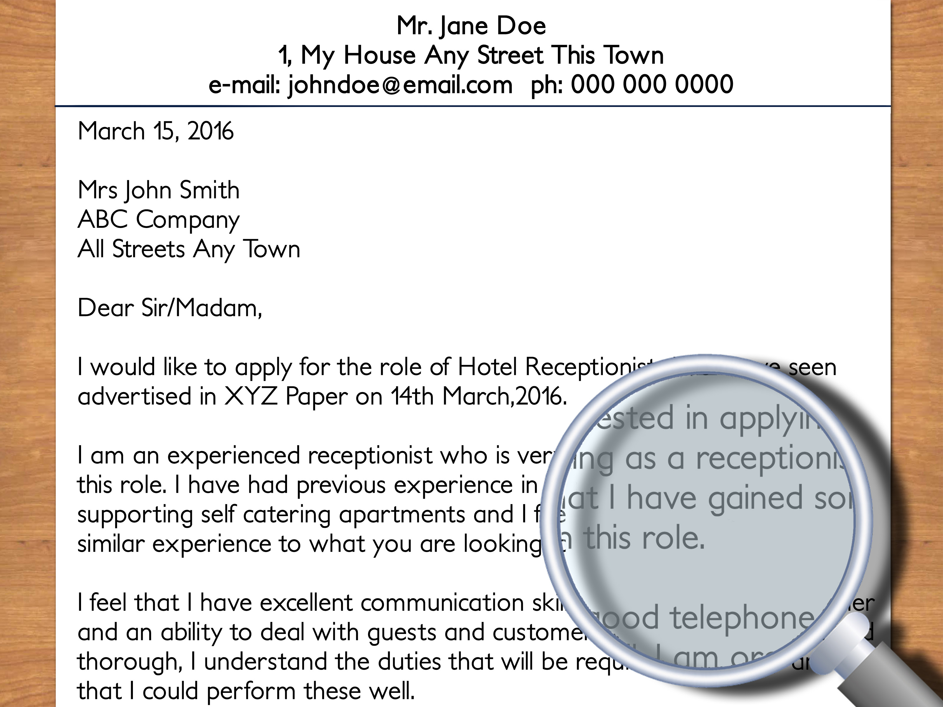 How To Write A Cover Letter To A Hotel With Pictures