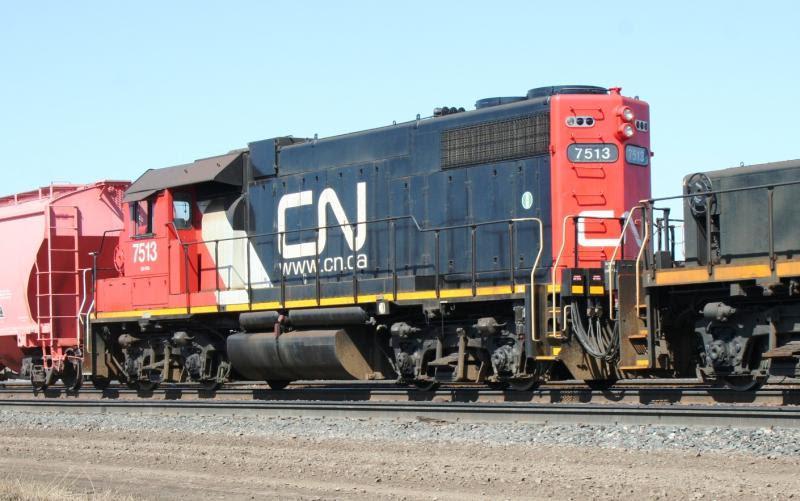 CN 7513 in Winnipeg. By Steve Vallis