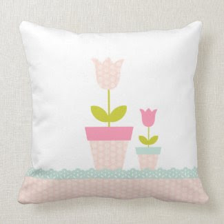 Spring Tulip Pillow throwpillow