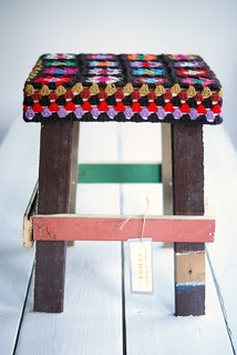 wood & wool stool daniel