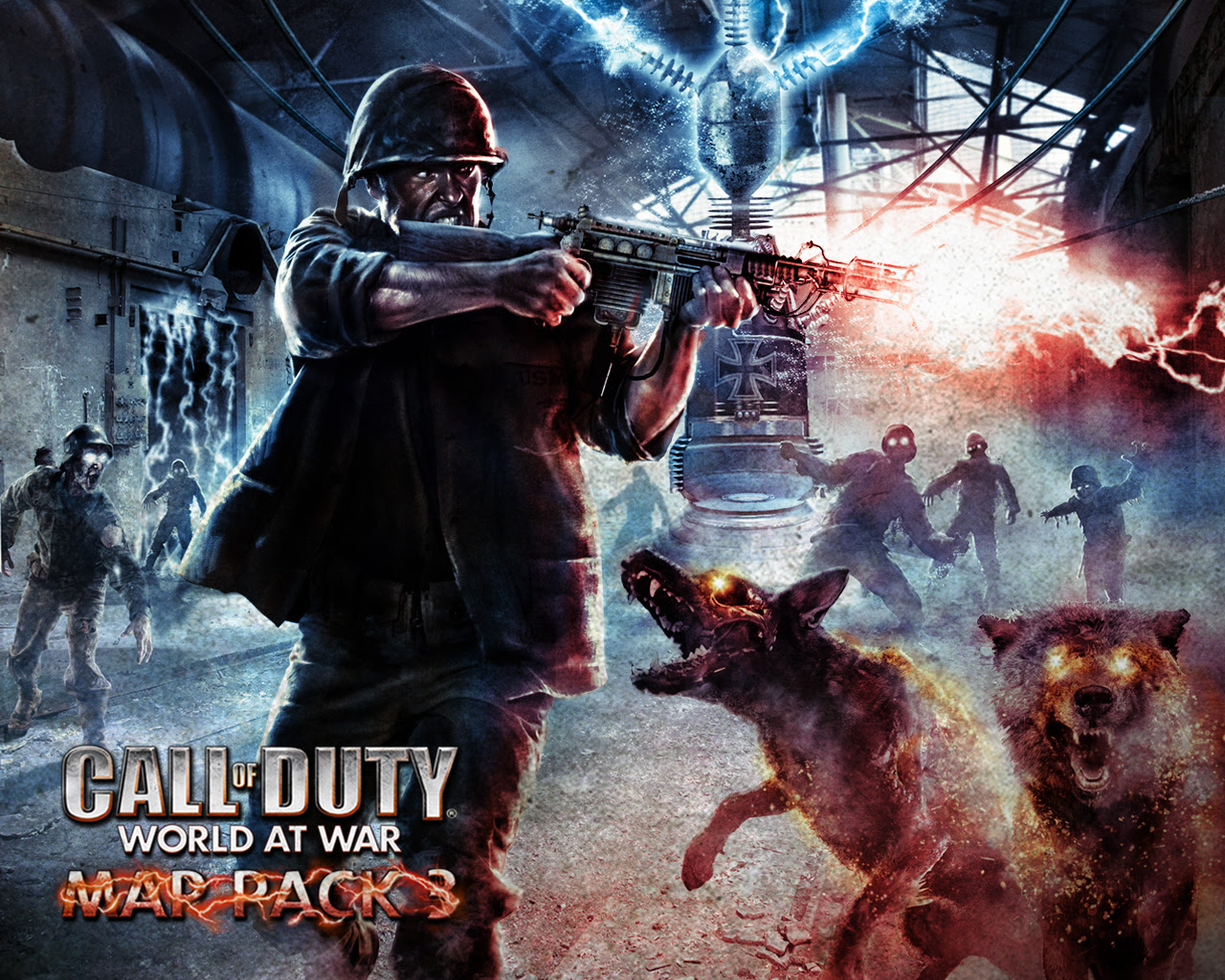 zombie wallpaper call of duty zombies 1280x1024