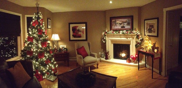 christmas decorating 2012 - Traditional - Living Room ...