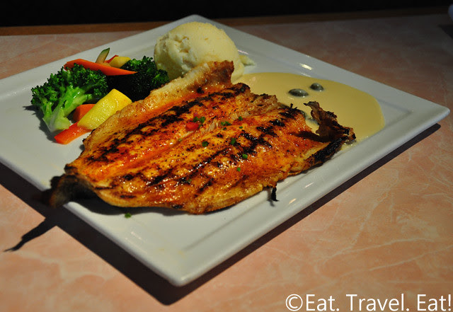Sesame Grill: Rainbow Trout in Lemon Butter Caper Sauce