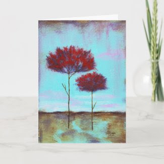Cherished Greeting Note Card From Original Art card