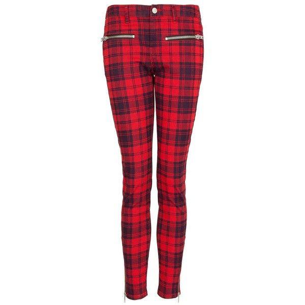 Mango Plaid trousers ($74) via Polyvore