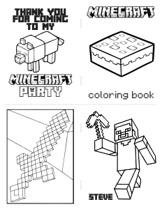 600+ Minecraft Coloring Book Images Best HD