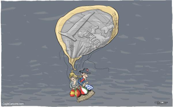 Martin Sutovec - Slovakia - Merkel Sarkozy  - English - Angela Merkel, Nicolas Sarkozy, Euro, Europe, €, European Union, EU