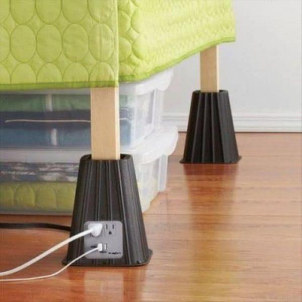 table leg plug socket