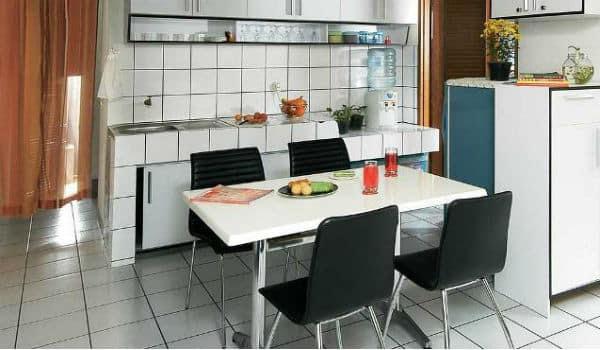 Desain Ruang Makan Dan Ruang Dapur Yang Menyatu