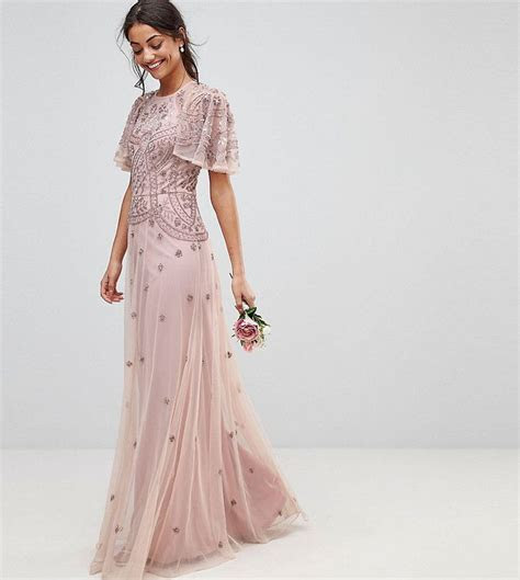 ASOS Tall ASOS TALL WEDDING Iridescent Delicate Beaded