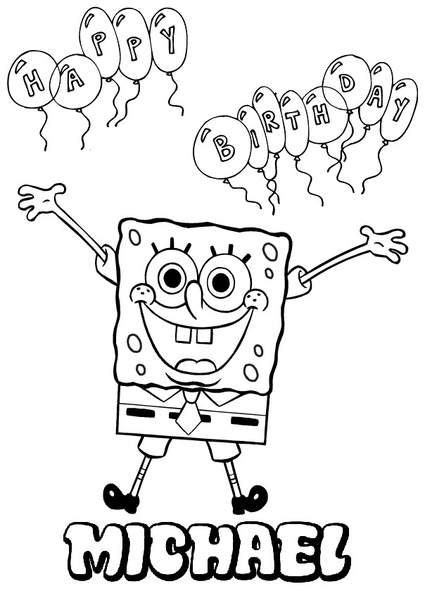 Spongebob Birthday Coloring Pages at GetColorings.com ...