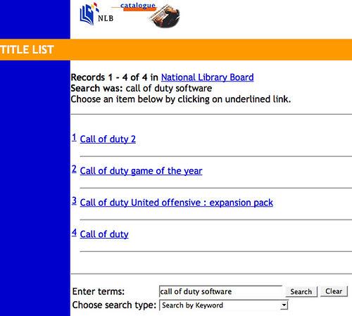 screenshot_NLB Catalogue - Call of Duty