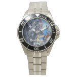 Jousting Knights on horse historic realist art Watch