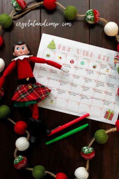 Elf On The Shelf Calendar-Crystal and Company