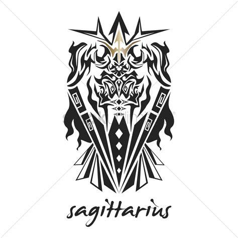 sagittarius tattoo horoscope design vector image
