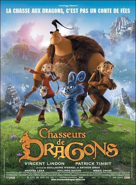 póster cazadores de dragones