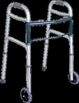 Andador com 2 rodas para problemas no quadril, como usar