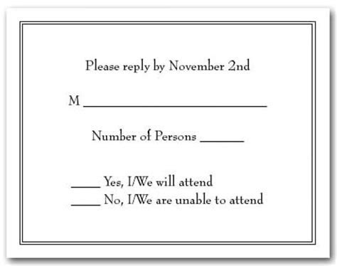 RSVP vs. Regrets Only, What Should You Use on your