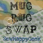 SewHappyGeek Mug Rug Button