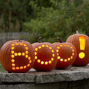 Boo Jack-o-lanterns