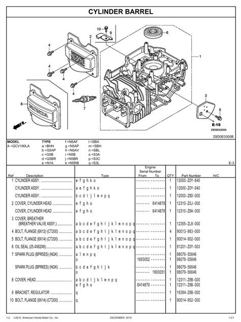 GCV190LA General Purpose Engine Parts Catalog | Honda