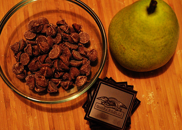 chocolate and pear