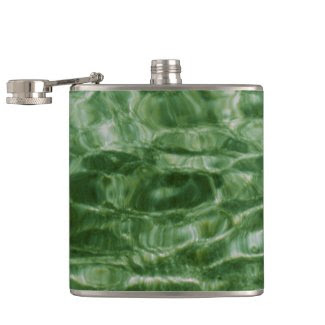 Green Water Hip Flasks