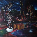 """""""La chute de Sain Antoine"""" Huile/toile 162 x 130 cm 2008"""