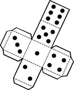 Printable die dice by snifty - A template for printing out dice to ...