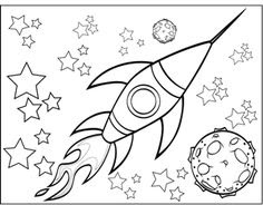 460 Coloring Pages For Outer Space  Images