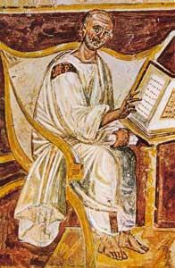 Sant'Agostino, afresco do século VI, Latrão, Roma