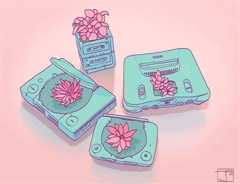 succulents  vintage tech grunge aesthetic doodles